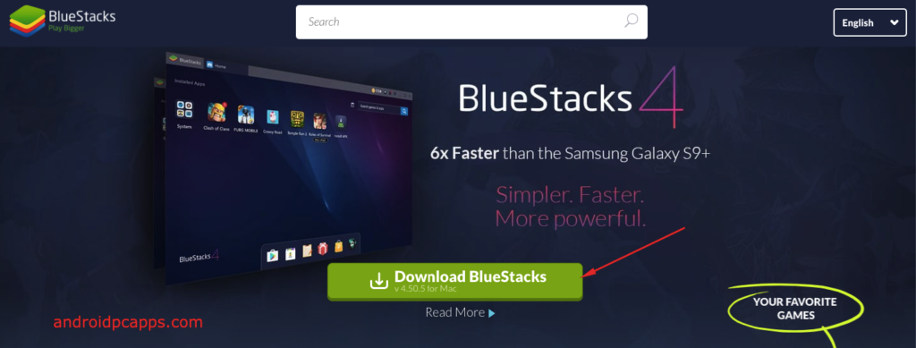 Install bluestack for PC