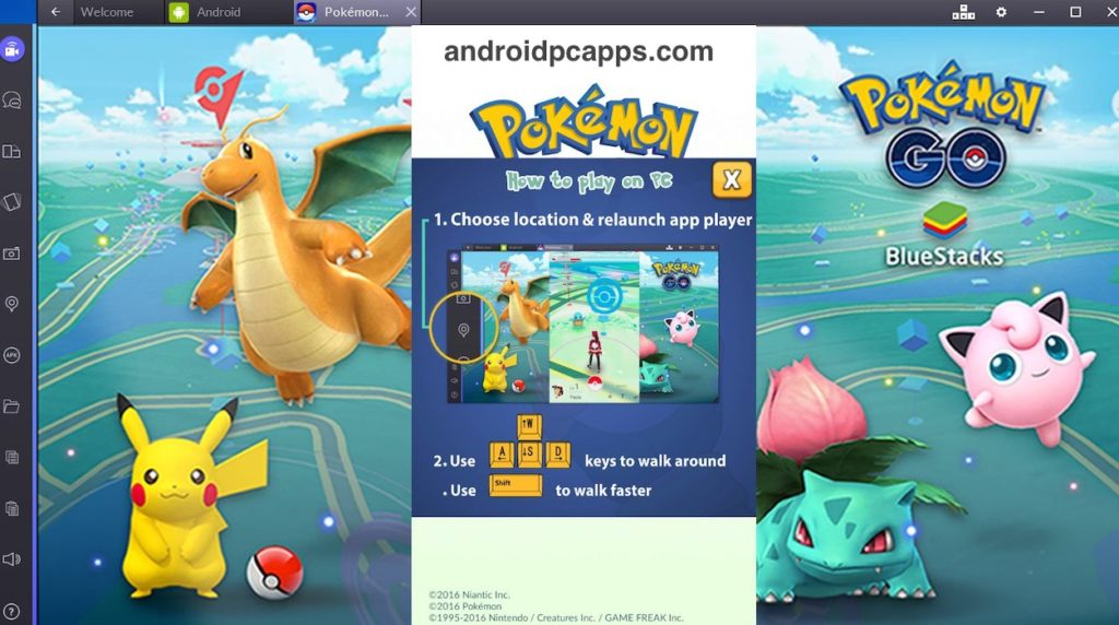 install pokemon go for PC